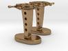 Ship wheel cufflinks 3d printed