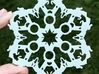 Jumping Horses and Show Ribbons Snowflake Ornament 3d printed