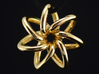 Seven Star 3d printed 14k Gold plated
