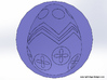 Easter Egg Wax Seal 3d printed The wax will look like a painted Easter Egg popping out of the page!