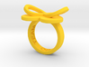 AMOUR in yellow polished plastic  3d printed