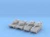 6mm 1/285 Ariete C1 tank and B1 Centauro vehicle 3d printed