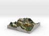 Mount Assinibonine Map - Vibrant 3d printed
