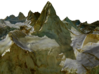 Mount Assinibonine Map - Vibrant 3d printed