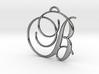 Elegant Script Monogram B Pendant Charm 3d printed