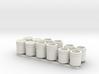 1:50 5 Gallon buckets Pack of Twelve.  3d printed