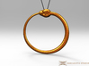Ouroboros Pendant 5.2cm 3d printed Pendant cord not included
