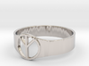 Peace ring mens size 8 3d printed