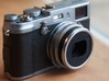 X100s Minimal Hood 3d printed Attached to camera