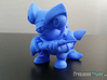 Scuba Shark Toy Collectible 3d printed Photo of 3D printed Scuba Shark in Blue