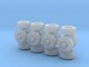 7mm diameter wheels x16 3d printed