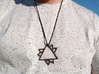 Overlapping Triangles Pendant 3d printed Overlapping Triangles Pendant in Polished Bronze Steel
