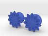 """5/8"""" ear plugs 16mm - Flowers - 11 petals 3d printed"""