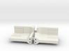 Concrete Retaining Wall - 90° Corner (pair) 3d printed