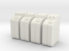 1:35th Scale Jerry Can 4 Pack 3d printed
