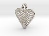 Swirling Heart Pendant 3d printed