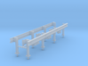 1/50th Set of two 20' Highway Guardrails 3d printed