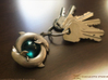 Piscean / Yin Yang Dolphin Totem Keychain 4.5cm 3d printed Polished Nickel Steel (cabachon not included) Contact me for finished versions with cabachon settings ;)