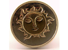 Pyre Coin Sun Gold 3d printed