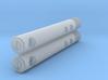 """Mitchell Stylus Brush (.375"""" Diameter) Pair 3d printed"""