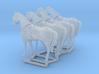 4 pack HO scale horses with harnesses 3d printed