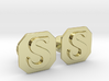 Monogram Cufflinks S 3d printed