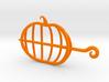 Pumpkin Hair Fastener 3d printed