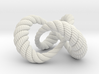 Varying thickness trefoil knot (Rope with detail) 3d printed