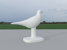 Pigeon Bird 3d printed Back View, Pigeon Bird