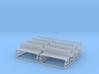 Bench type D - H0 ( 1:87 scale ) 8 Pcs set 3d printed