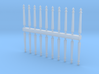 Electric pole type A - T Scale 1:450 20pcs set  3d printed