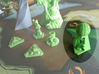 Laboratory token 3d printed Green Polished. Photo courtesy of Vincent Dupont.
