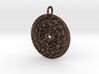 Mayan Mandala Pendant (wearable steel) 3d printed