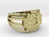Inca Cross Ring 3d printed
