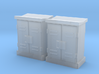 HO 2 Relay Cabinets Low 3d printed