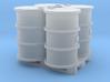 200 Liter 4 Fässer auf Europalette - 1:120 TT 3d printed