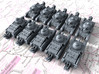 1/600 French Char D1 Light Tank x10 3d printed 1/600 French Char D1 Light Tank x10