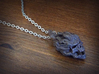 Flaming Skull Pendant 3d printed