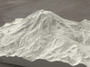 8'' Mt. Rainier, Washington, USA, Sandstone 3d printed Radiance rendering of model from south