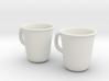 Coffee Tea cup mug set 1/6 miniature 3d printed