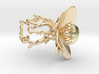 Flower ring (US sizes 1.5 – 5.5) 3d printed
