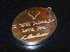 Wedding Cameo Pendant Of Meighan & Chris 3d printed Back of The Cameo Pendant, with a signed love note inscribed in my hand writing (www.myscriptfont.com)