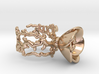Half open flower ring (US sizes 1.5 – 5.5) 3d printed