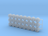 Tractor Trailer Wheels & Tires V3 - 24 Pack 3d printed