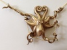 Octopus Pendant 3d printed Shown hanging from approx. 1mm diameter chain (not included)