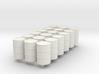 18 N scale oil drums 3d printed