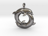 Piscean / Yin Yang Dolphin Totem Pendant 4.5cm 3d printed