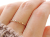 With You Always Ring (Multiple Sizes) 3d printed 'With You Always' Ring in Polished Bronze