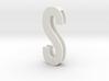 Choker Slide Letters (4cm) - Letter S 3d printed