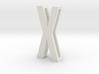 Choker Slide Letters (4cm) - Letter X 3d printed